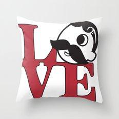 Love Natty Boh Throw Pillow