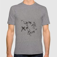 The Cheshire Cat Wisely Said:  Mens Fitted Tee Athletic Grey SMALL
