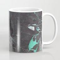 Grey And Blue Marble Mug