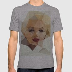 Monroe. Mens Fitted Tee Athletic Grey SMALL