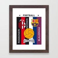 Football AC Milan Juventus Barcelona Art Print Poster Framed Art Print