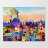 Spring Flowering over the Rooftops Canvas Print