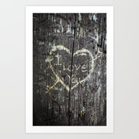 The Carving Tree - I Lov… Art Print
