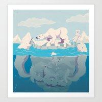 Arctic Playtime! Art Print