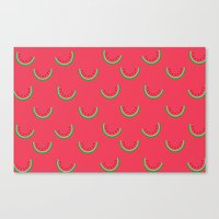 Fun Watermelons Pattern - Summer time Canvas Print