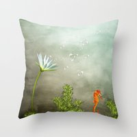Ocean Deep II Throw Pillow