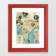 India Framed Art Print