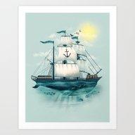 Art Print featuring The Whaleship by Dan Elijah G. Fajard…