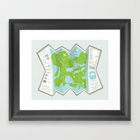 Totally Inaccurate Map O… Framed Art Print