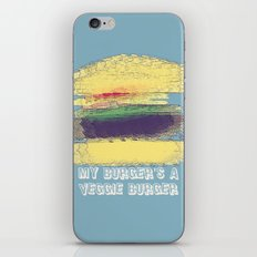 Veggie Burger (blue) iPhone & iPod Skin