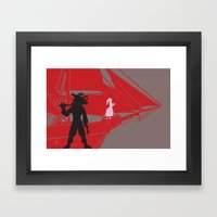 A Piratical Diversion Framed Art Print
