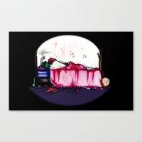 Mad Clown Love Canvas Print