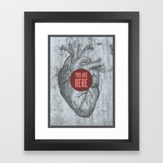 In My Heart Framed Art Print