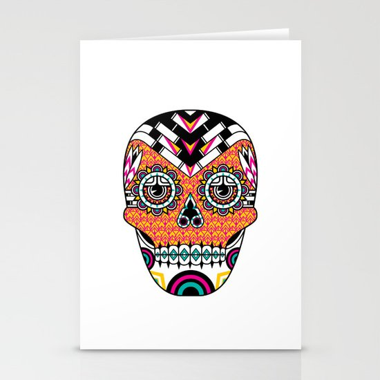 Deco Skull Stationery Card