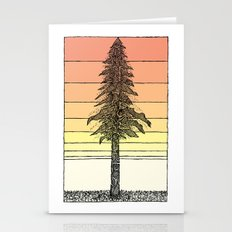 Coastal Redwood Sunset Sketch Stationery Cards