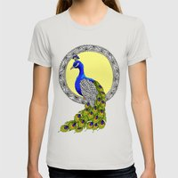 Peacock Womens Fitted Tee Silver SMALL