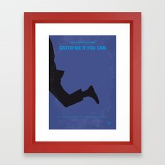 No592 My Catch Me If You Can minimal movie poster Framed Art Print
