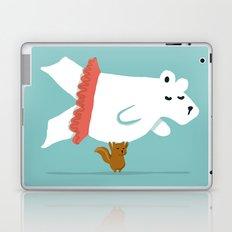 You Lift Me Up - Polar bear doing ballet Laptop & iPad Skin