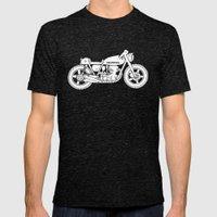 Honda CB750 - Café racer series #1 Mens Fitted Tee Tri-Black SMALL