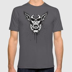Yare Devil mask #1 Mens Fitted Tee Asphalt SMALL