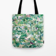 Abstract Green & Blue Tote Bag