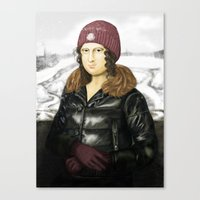 Mona Lisa in winter Canvas Print