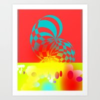 Twisted Invert Art Print