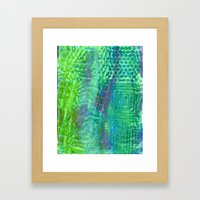 Textured Green And Pink Framed Art Print