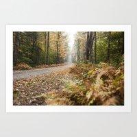 Along The Road - Fall Art Print