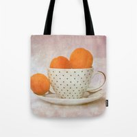 a cup full of apricots Tote Bag