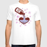 Drunkenheart Mens Fitted Tee White SMALL