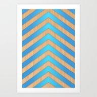 Turquoise Chevron Art Print
