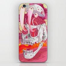 Pink Skel iPhone & iPod Skin