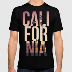 CALI FOR NIA Mens Fitted Tee Black SMALL