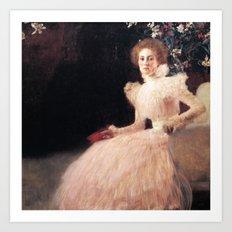 Gustav Klimt - Portrait of Sonja Knips Art Print