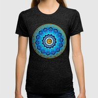 Blue Rose Womens Fitted Tee Tri-Black SMALL
