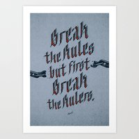 Break The Rules (variant… Art Print