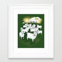 Hide & Sheep Framed Art Print