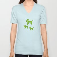 Dogs-Green Unisex V-Neck