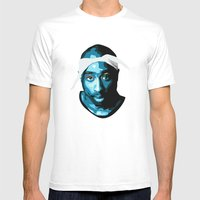 Tupac Mens Fitted Tee White SMALL