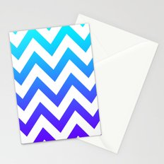 PURPLE & TEAL CHEVRON FADE Stationery Cards