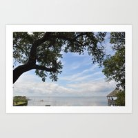 OuterBanks Vacation Blue… Art Print