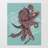 Octopus Bloom Canvas Print