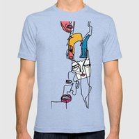 conflicted Mens Fitted Tee Tri-Blue SMALL