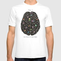 Your Brain On Video Games Mens Fitted Tee White SMALL