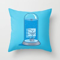 The Great Escape Artist Throw Pillow