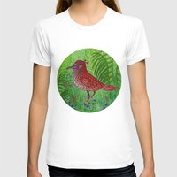 Red Bird Womens Fitted Tee White SMALL