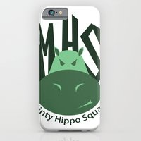 iPhone & iPod Case featuring Minty Hippo Squad by Drix Design