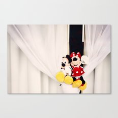 Mickey and Minnie Mouse Canvas Print