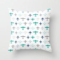 Planes Throw Pillow